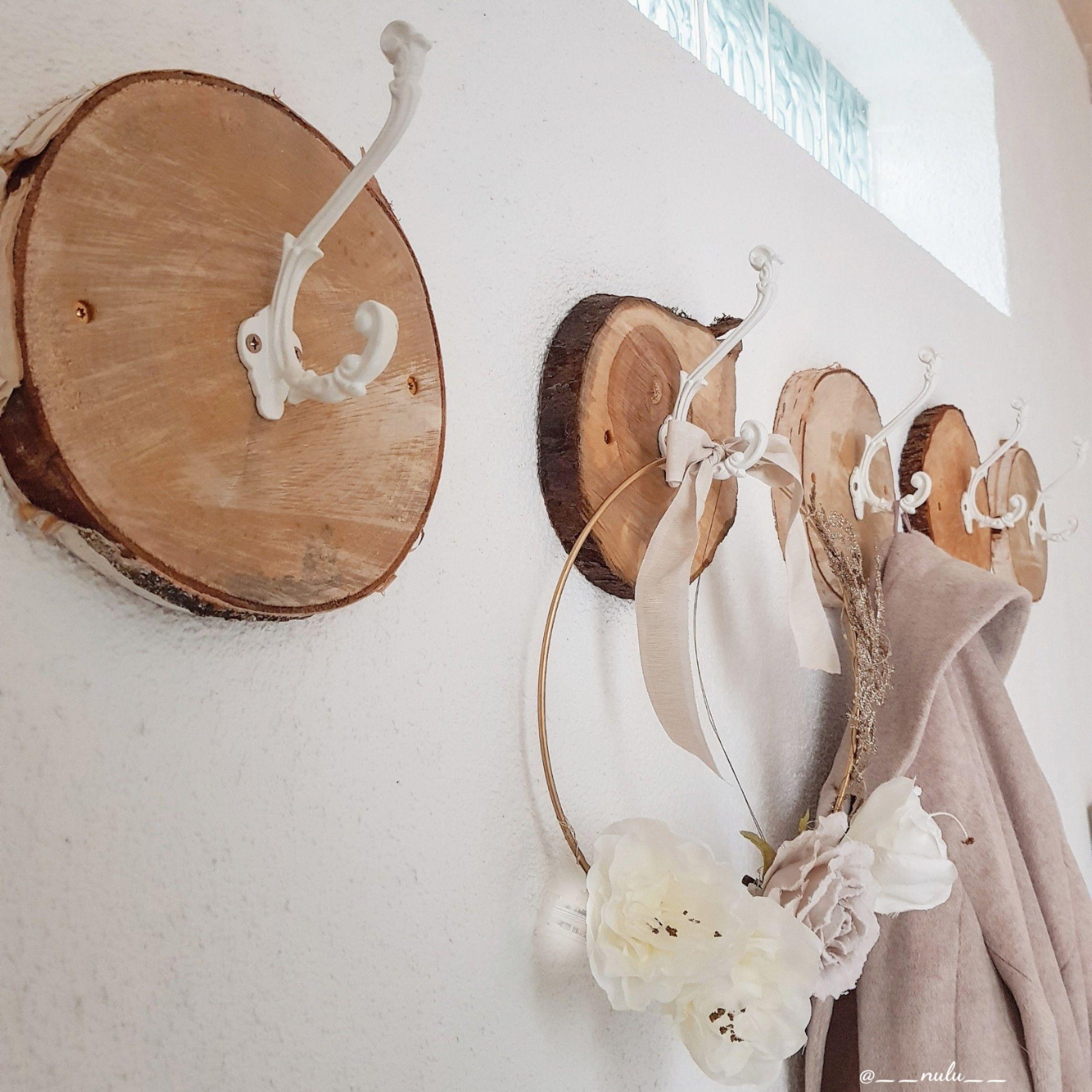 Birkenscheiben Garderobe – Birkenstamm-Garderoben von Birkendoc