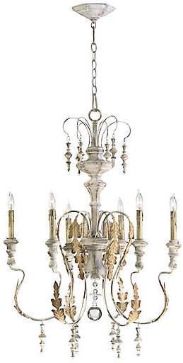 Motivo 6 light chandelier persian whitegold cyan creative motivo 6 light chandelier persian whitegold cyan aloadofball Image collections