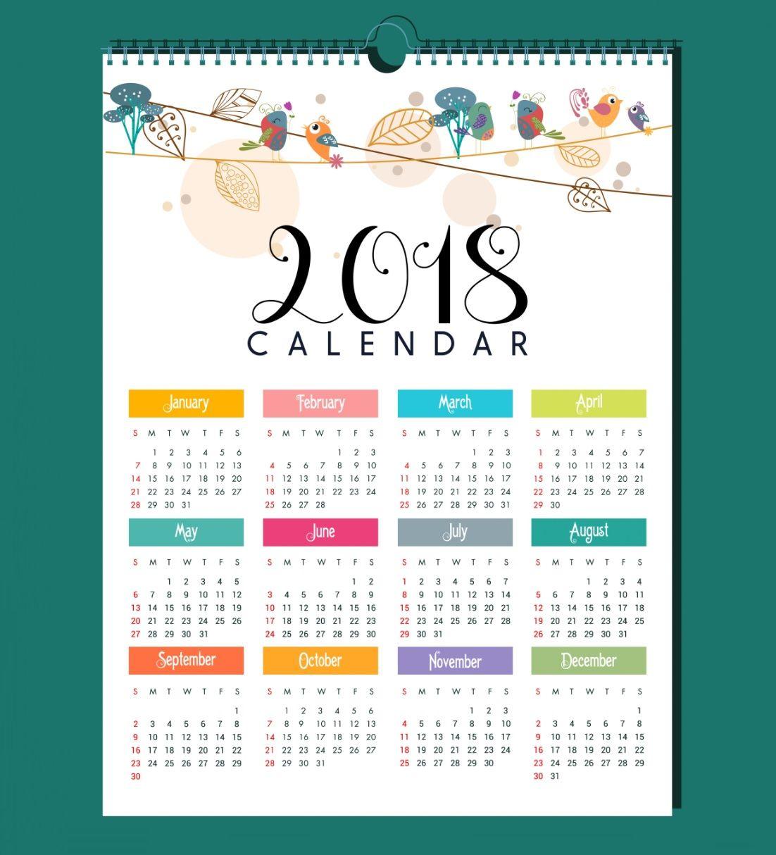Elegant Calendar Design 2018 Calendar 2018 Design Calendar Design Calendar