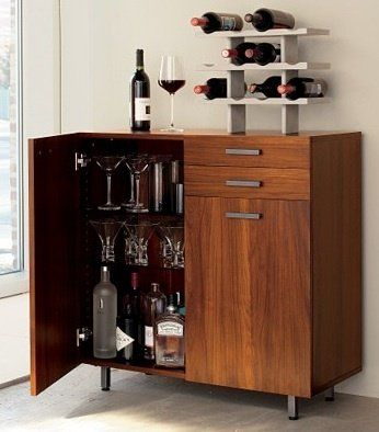 Mini Bar Small Scale Sideboards Apartment Therapy