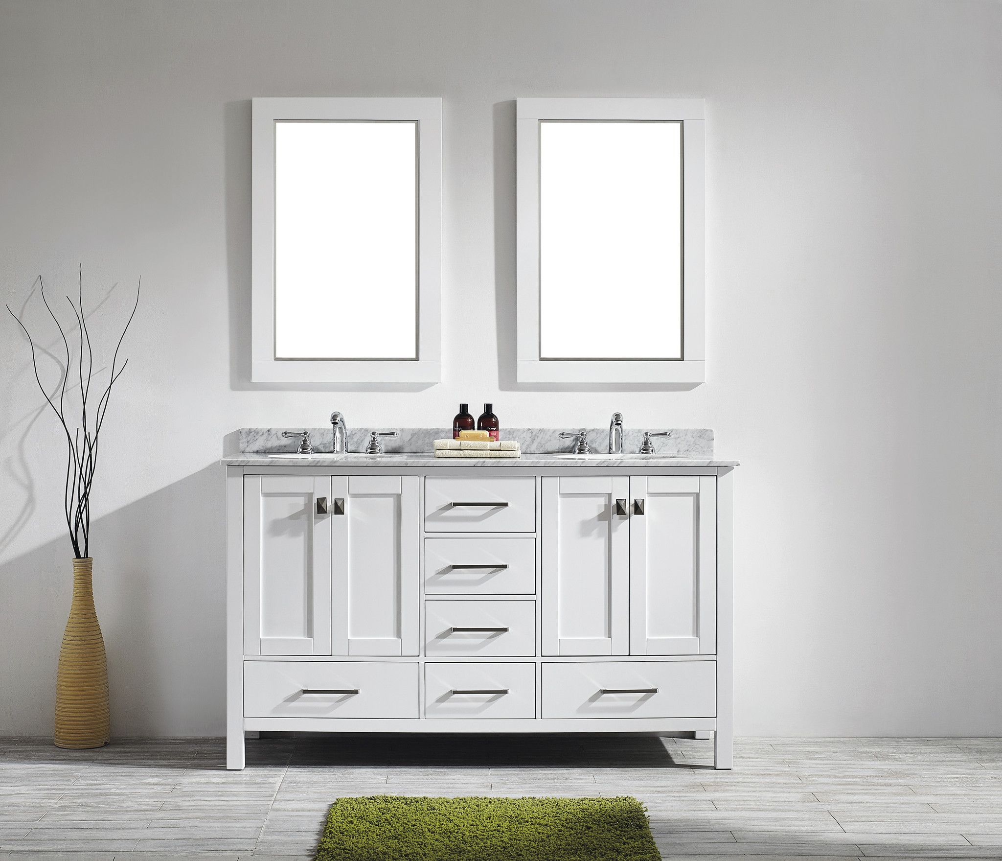 Eviva Aberdeen 60 Inch Bathroom Sink Vanity Has Unique And Very Simple  Lines That Defines Its