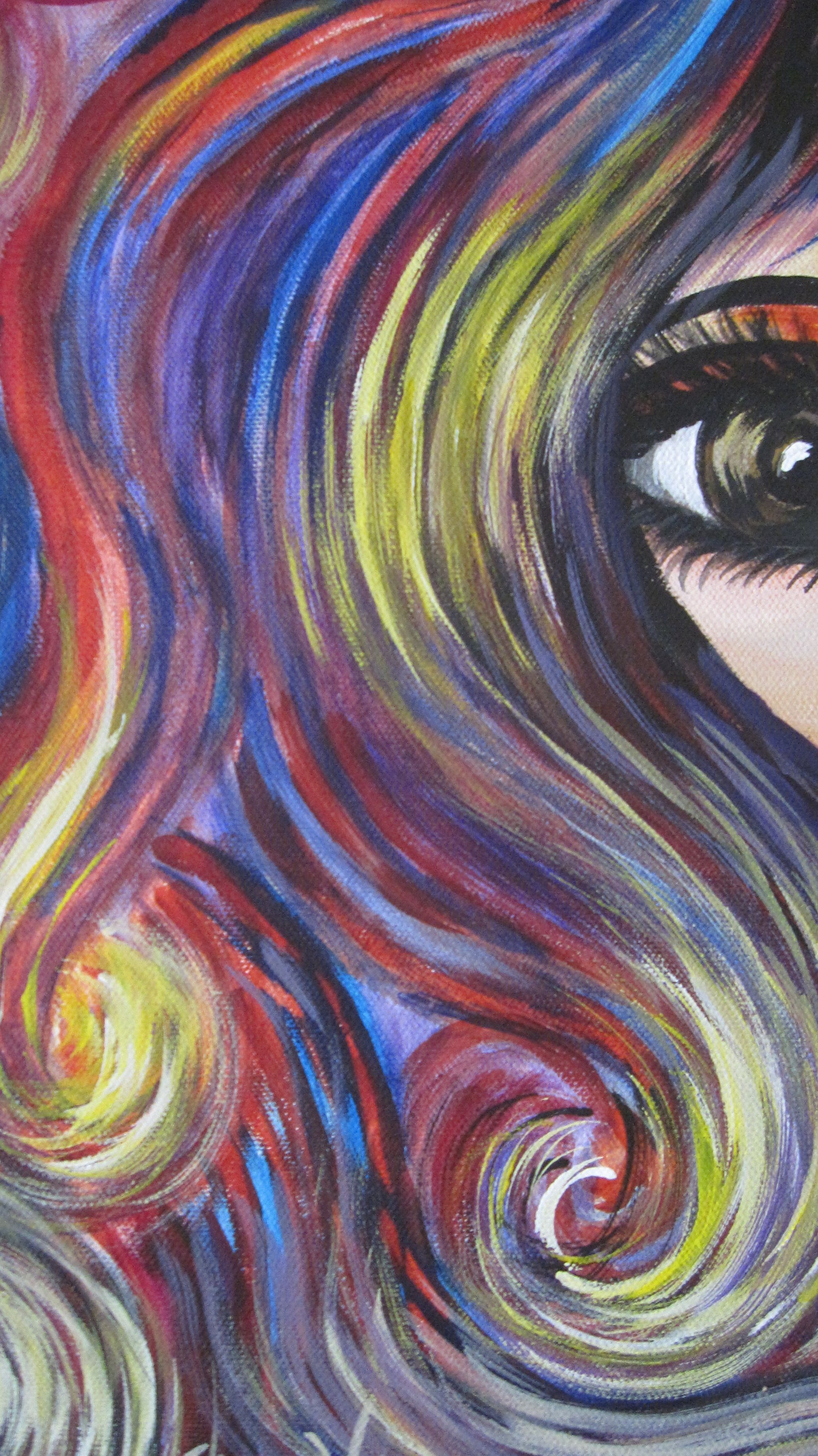 Tammy: Original Acrylic On Canvas. Part Of My Series Of