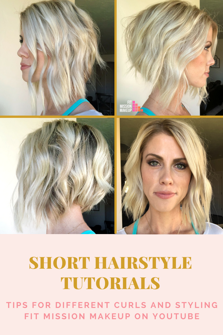 Short Beach Wave Curls With A Flat Iron Beach Waves For Short Hair Short Hair Waves Flat Iron Hair Styles