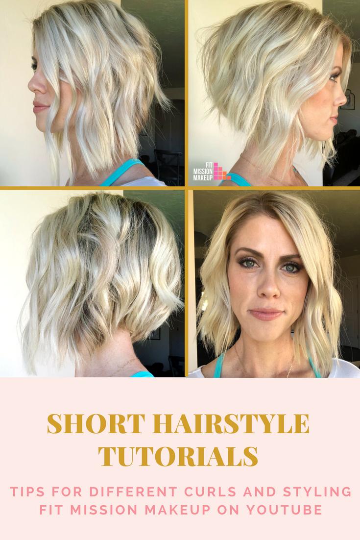 Short Beach Wave Curls With A Flat Iron Beach Waves For Short Hair Flat Iron Short Hair Short Hair Tutorial