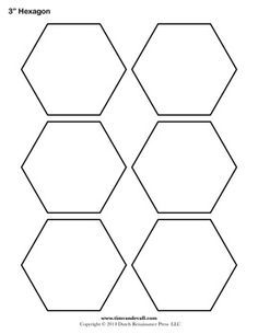 Free Hexagon Template, english pp | quillten | Pinterest ... : printable quilting templates - Adamdwight.com