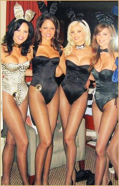 Playboy bunnies wear two pairs of pantyhose
