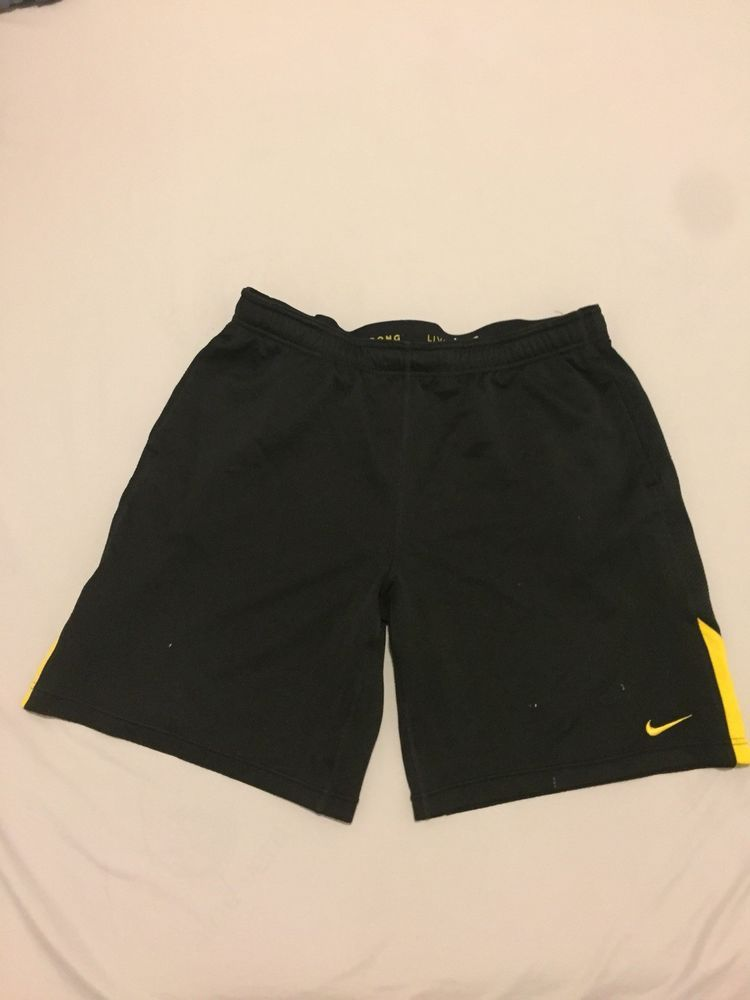 Nike drifit livestrong blackgold athletic shorts with