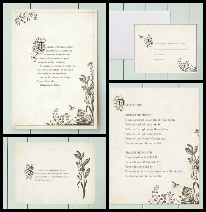 story book fairy tale wedding invitation suite - Book Wedding Invitations