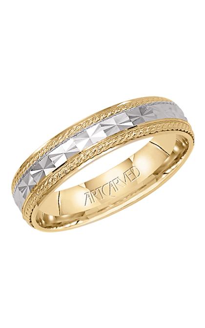 14K Yellow White Gold Band 2Tone Floral 4.7mm Comfort Fit Men Women Wedding