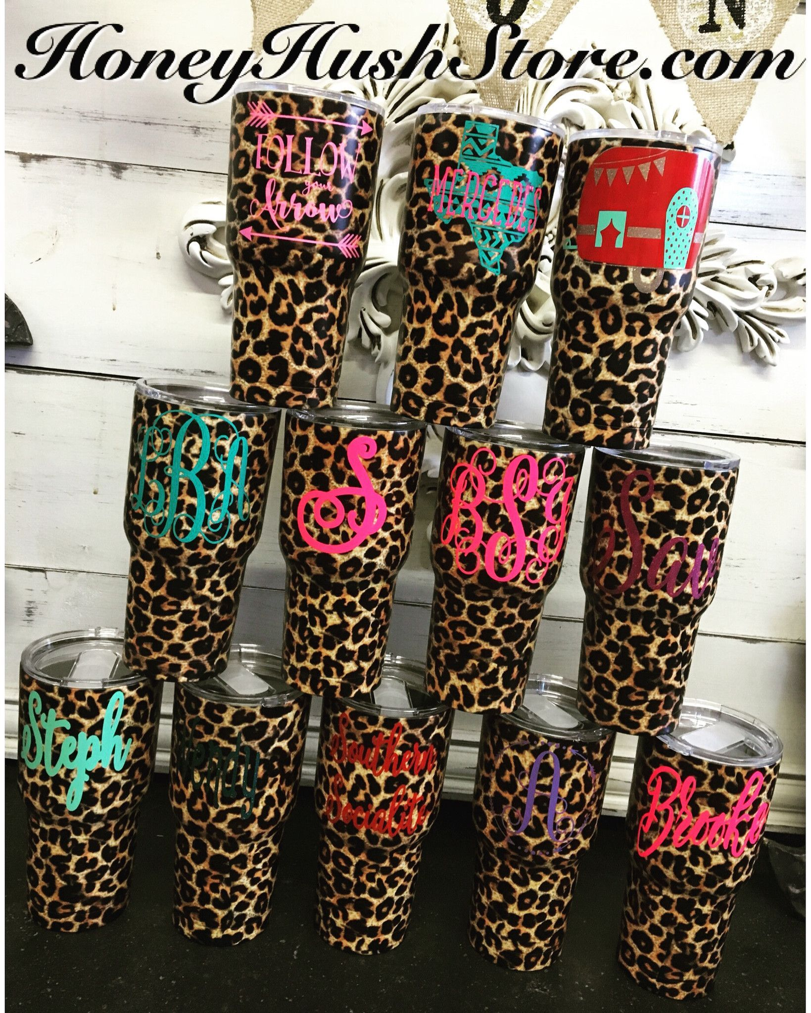 1e97ed8d85f CHEETAH Stainless 30 Oz Tumbler Decals For Yeti Cups, Yeti Decals, Coffee  Tumbler,