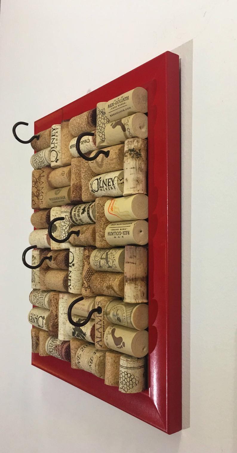 Jewelry Organizer Jewelry Storage Wine Cork Jewelry Holder Etsy In 2020 Wine Cork Crafts Cork Jewelry Wine Cork Jewelry