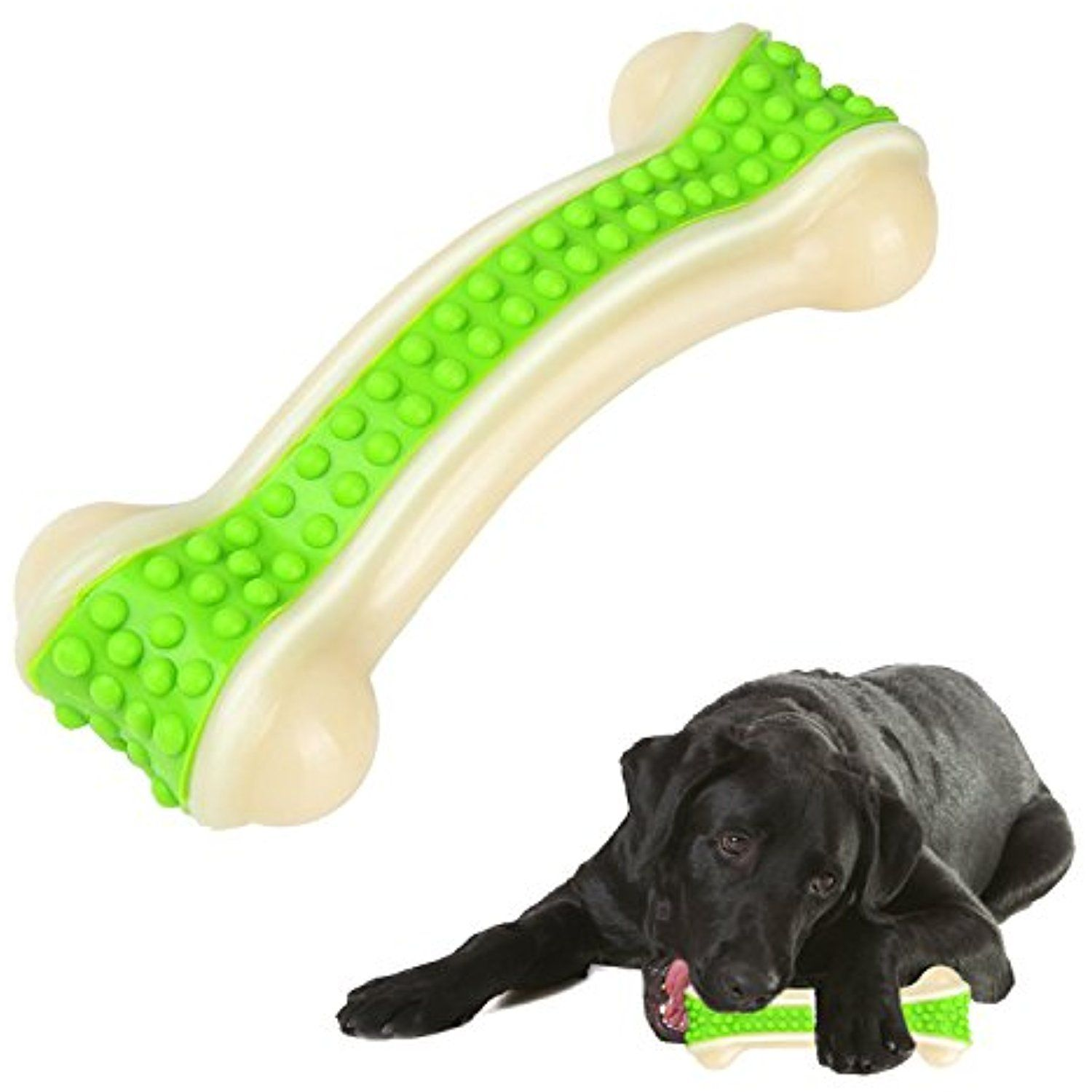 Bwogue Durable Dog Chew Toys,Guaranteed Tough Solid Bone Chew Toy ... | Dog Chew Toys That Last