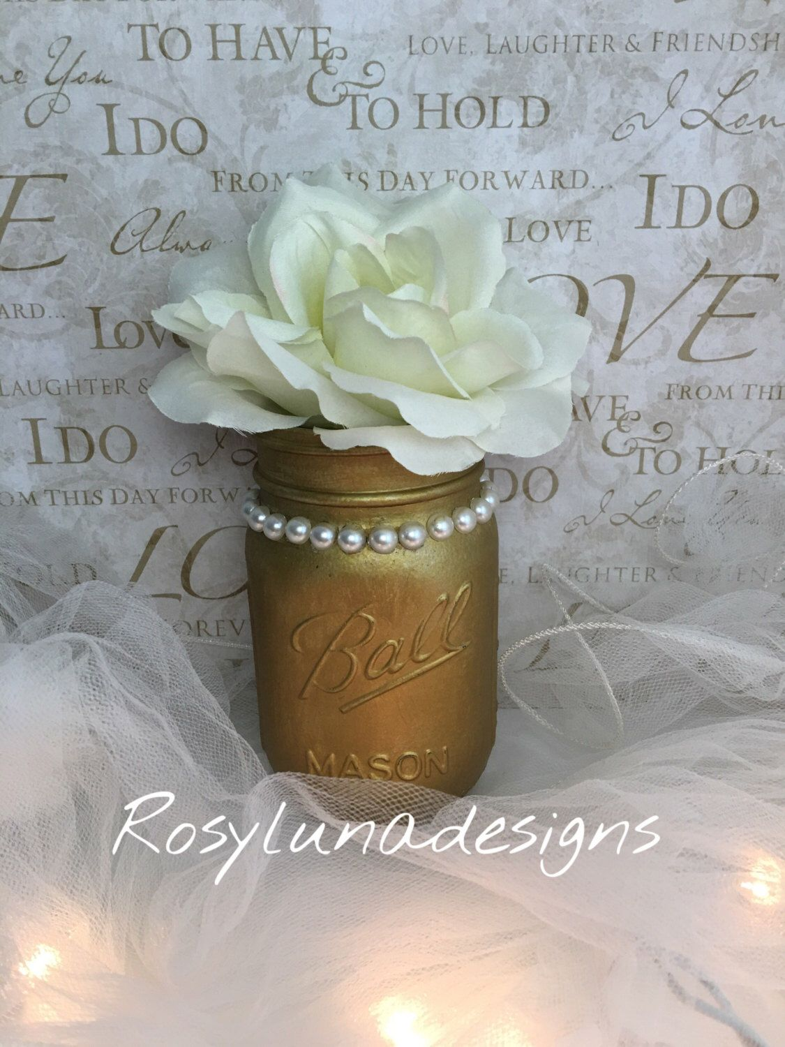 A personal favorite from my Etsy shop https://www.etsy.com/listing/451629746/classy-hand-painted-gold-mason-jar-with