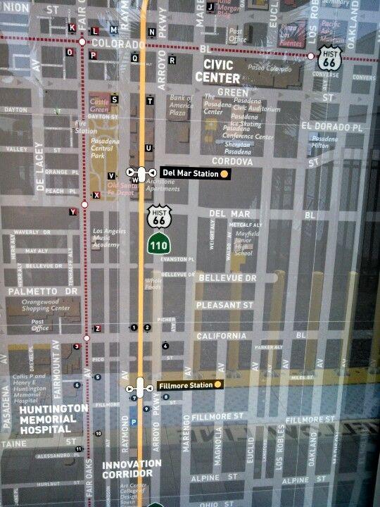 Fillmore Station Map Metro Gold Line Los Angeles Pinterest