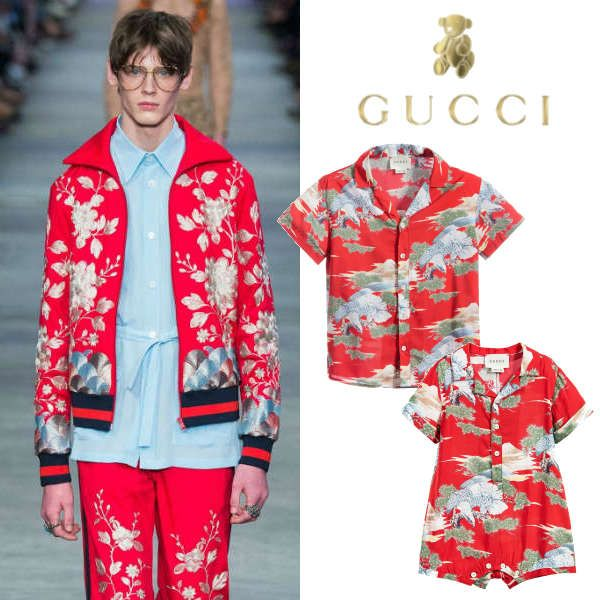 837fec9bf Cute GUCCI Boys Red Oriental Eagle Print Shirt and baby clothes. Taken from  Gucci Mens Spring Summer 2016 Fashion Show.