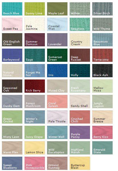 Ronseal Garden Paint Colour Chart Fasci Garden