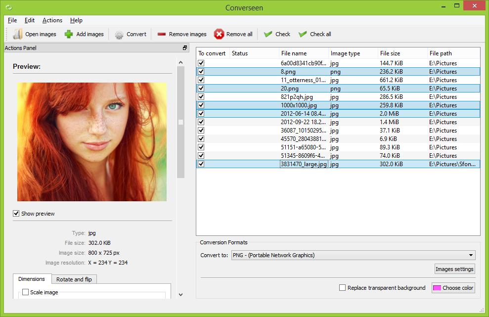 Download for Windows - Converseen