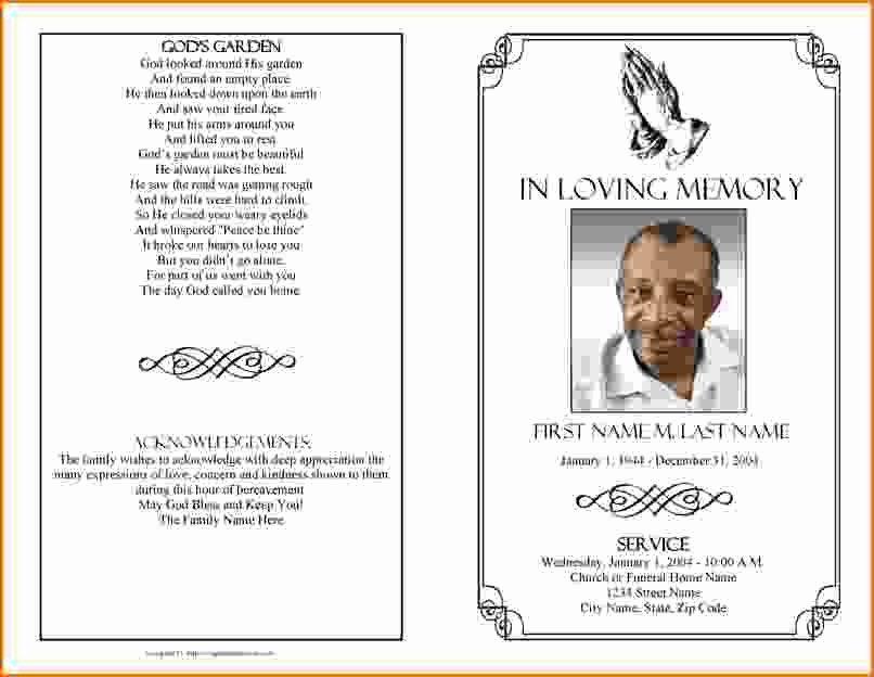 Free Printable Funeral Prayer Card Template New Memorial