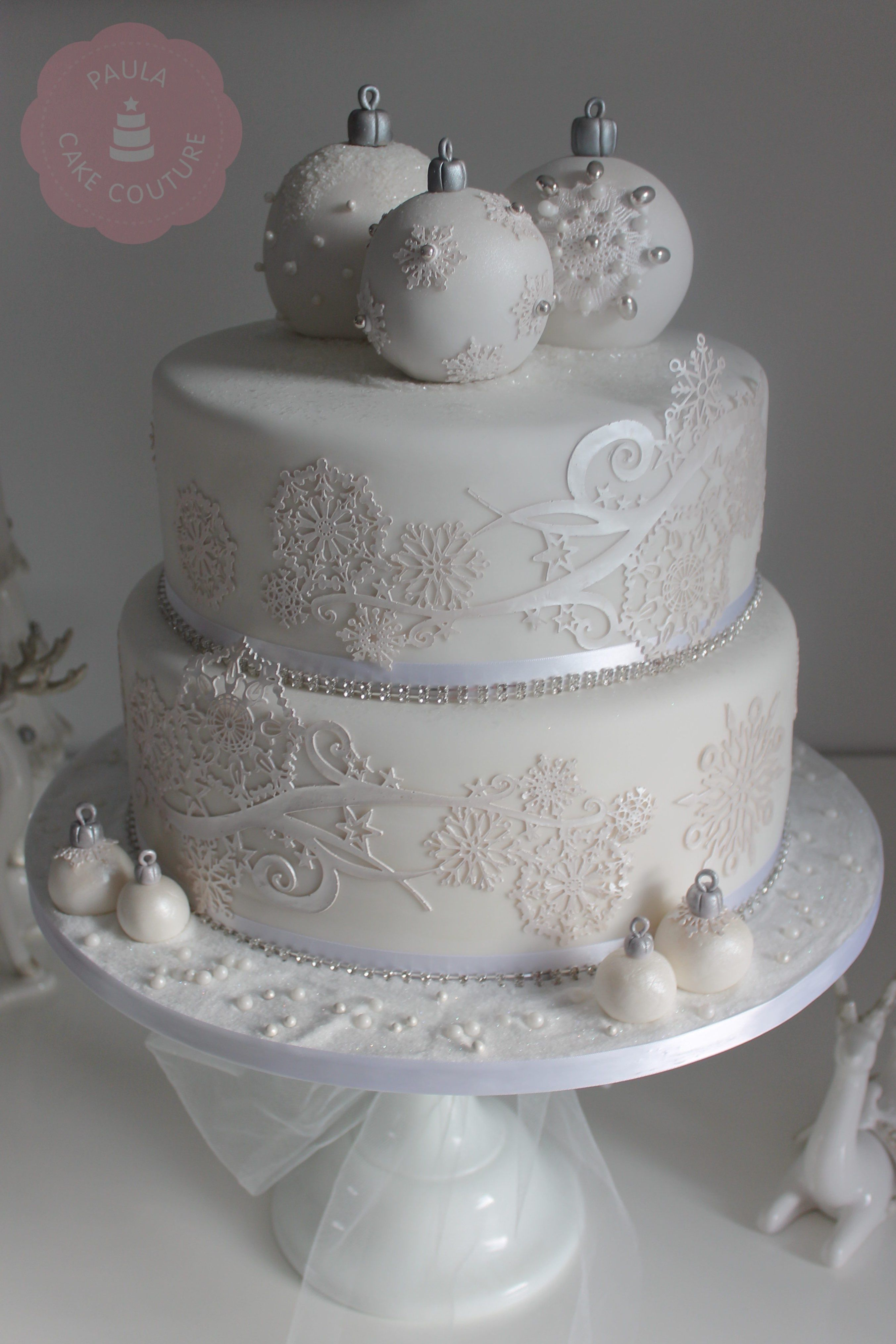 Beautiful Winter Design Winter cake, Christmas wedding