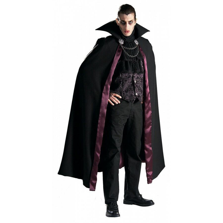 Vampire Costume Adult Gothic Victorian Count Dracula Halloween Fancy Dress