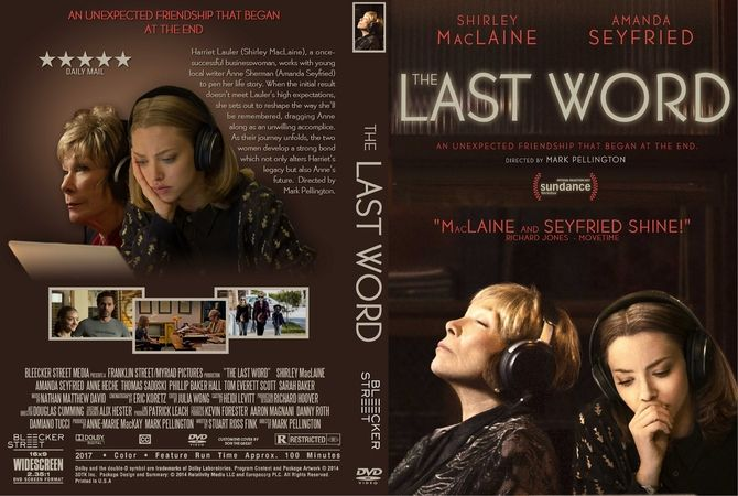 The Last Word (2017) DVD Custom Cover | Custom DVD Cover Designs ...