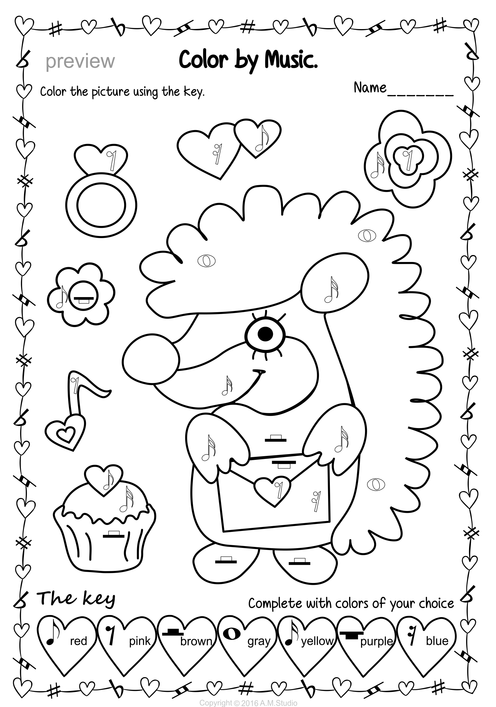 Pin By Anastasiya Multimedia Studio On Valentine S Day Music Activities Music Theory Worksheets Music Coloring Sheets Music Centers Elementary [ 2337 x 1639 Pixel ]