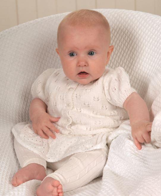 4ddd4b755 Free  Knitting Pattern for a Baby Cardigan in 4 Ply  Yarn