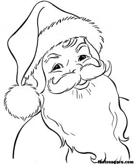 Coloring Pages Of Christmas Santa Claus Face Printable Coloring