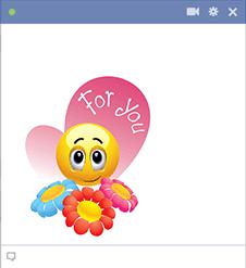 Emoticon with flowers | Emoji | Facebook emoticons, Smiley