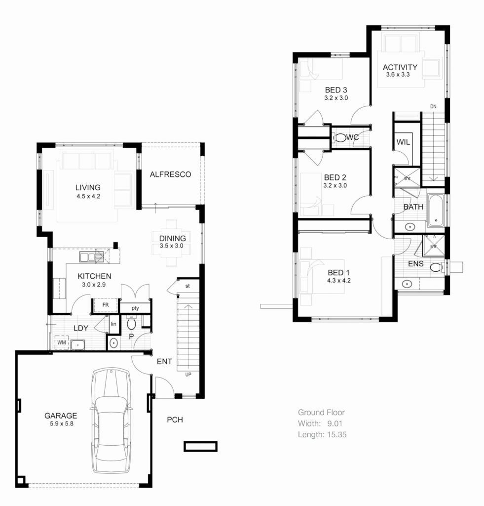 Fresh Design Farnsworth House Floor Plan In 2020 Three Bedroom House Plan House Plans With Photos Modern House Plans