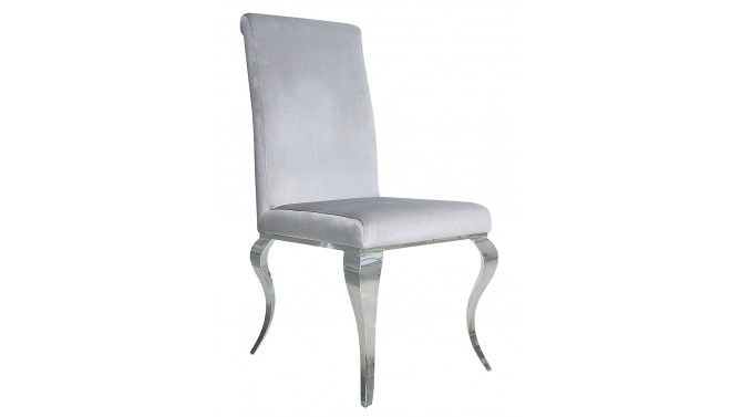 Chaise Design Confortable Velours Gris Style Baroque Zita Gdegdesign Chaise Design Salle A Manger Moderne Chaise