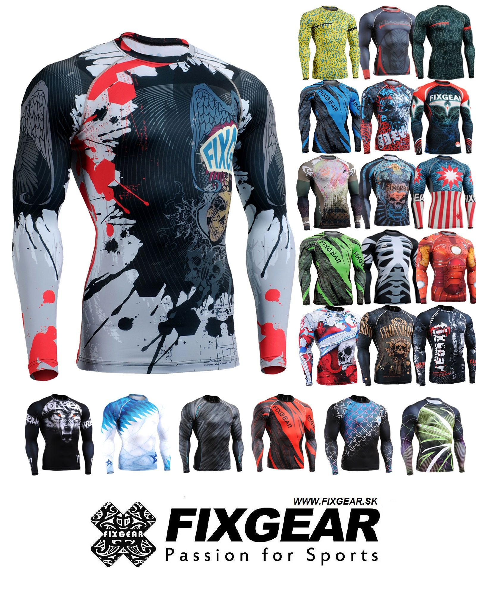 2475a2bdc UNISEX - kompresné tričká FIXGEAR FIXGEAR - Vášeň pre šport ...