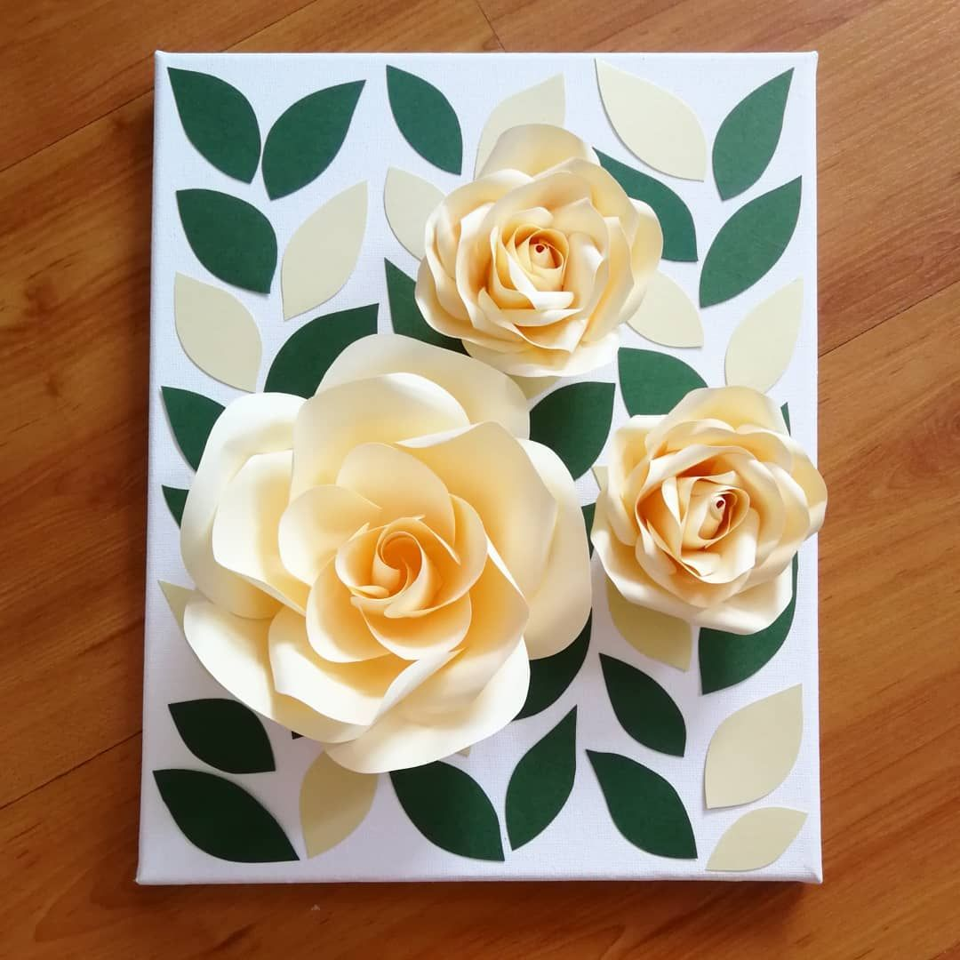 3d Paper Flower Canvas Board 220mm X 263mm Wall Decoration 3dflowers Walldecoration Paperflower Paperf Handmade Flowers Paper Paper Flowers Flower Canvas