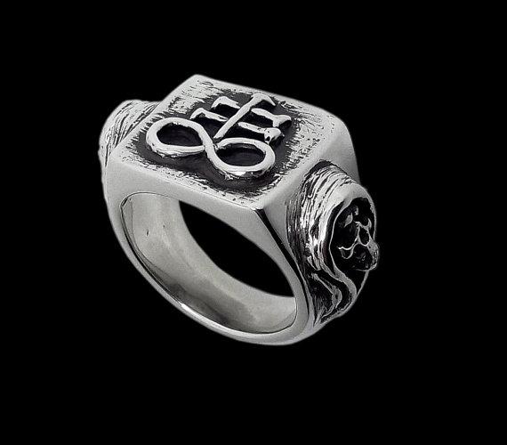 Brimstone ring - Sterling Silver Brimstone Skull Ring - ALL