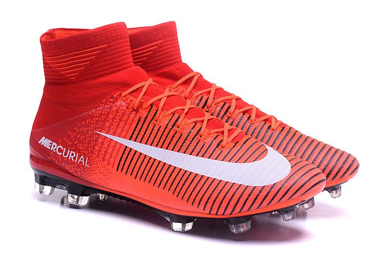 Nike Mercurial Superfly V FG iD Red White Black · Nike Soccer ShoesSoccer  ...