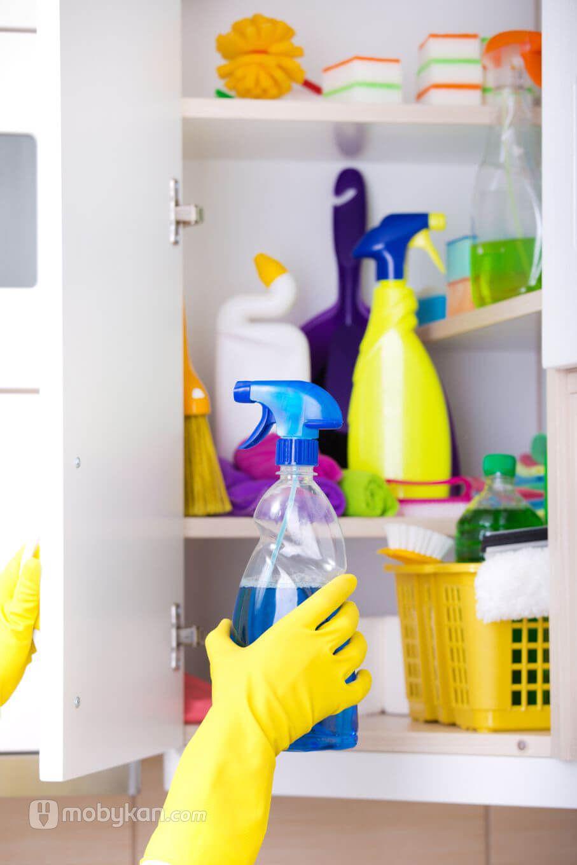 دواليب ادوات التنظيف و طريق اختيارها و اشكالها من موبيكان Cleaning Supplies Cleaning Spray Bottle