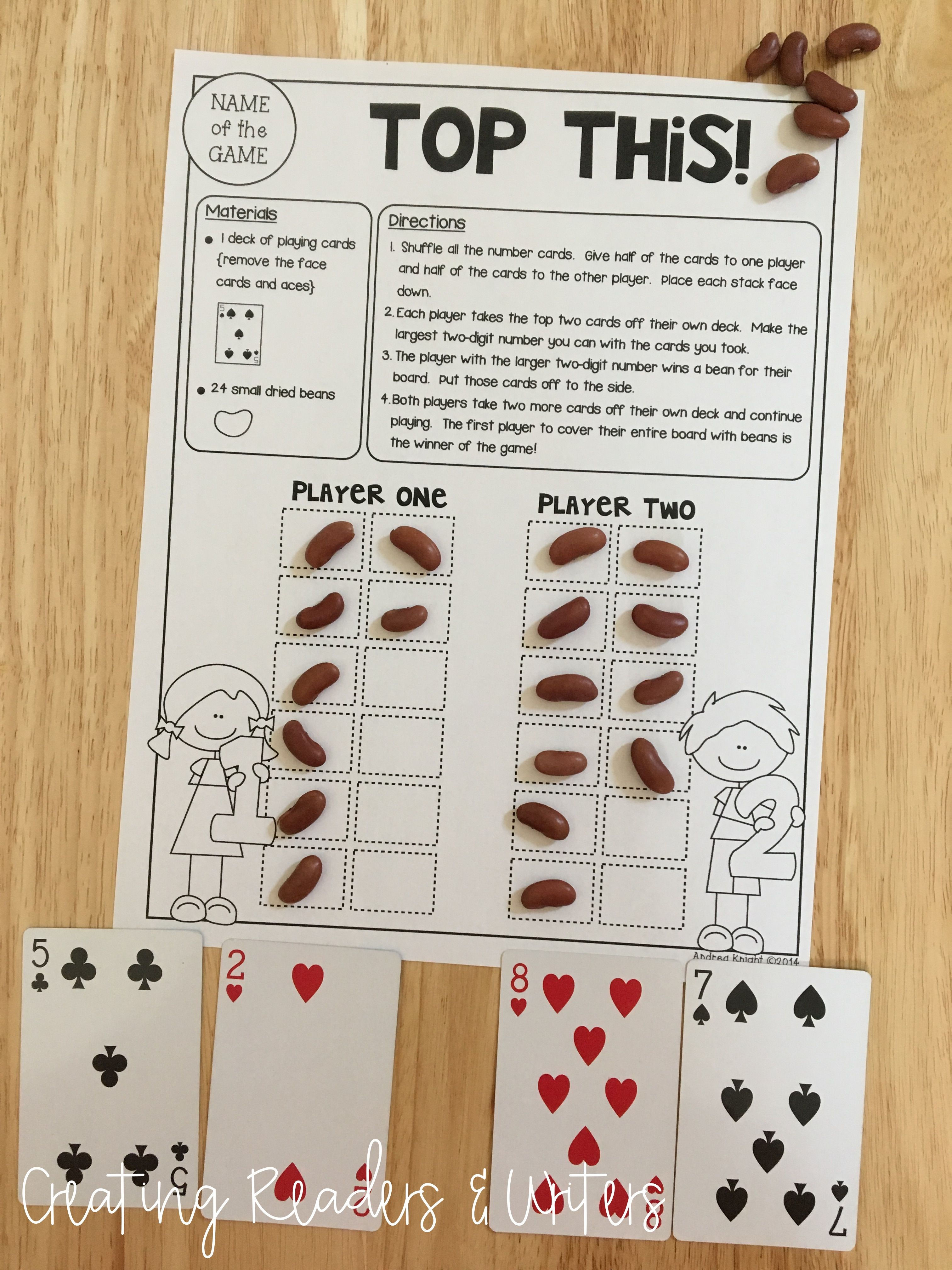 Math Games For Grades 1 2 Low Prep Reusable Games For Partners