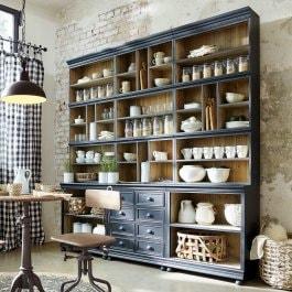 Schränke und Regale für Ihre Küche Im VintageStil Im