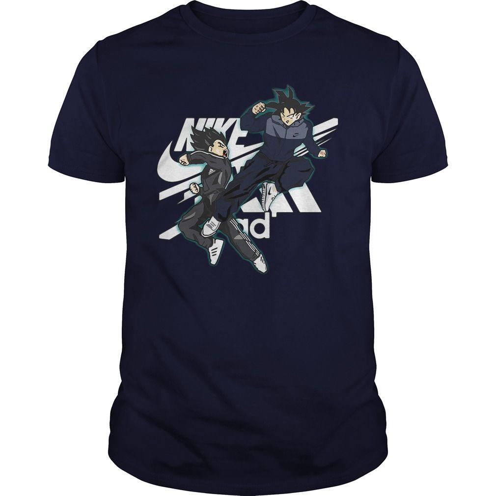 Official Vegeta Adidas Vs Songoku Nike Shirt Hoodie And Sweater Nike Shirts Adidas Shirt Cool T Shirts