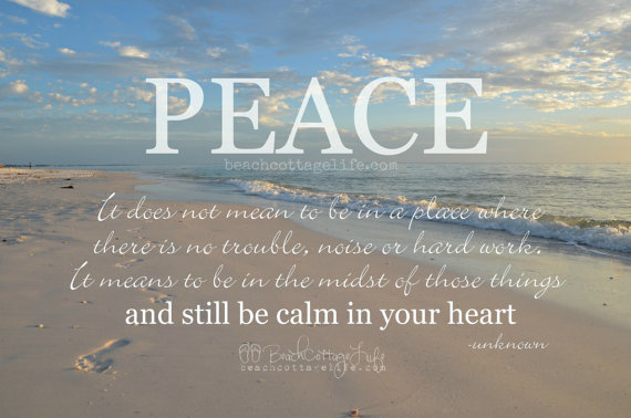 Peace Calm In Your Heart Motivational Quote Sunset Coastal Etsy Beach Quotes Motivational Quotes Life Quotes