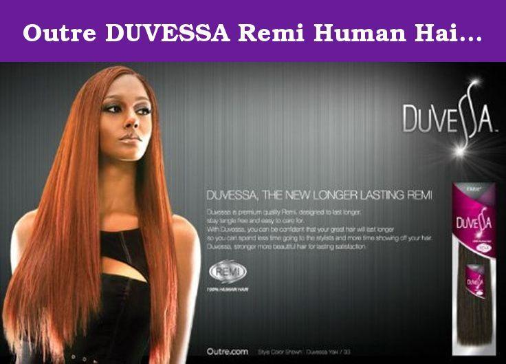 Outre Duvessa Remi Human Hair Weave Yaki 14 Inch C430 Light
