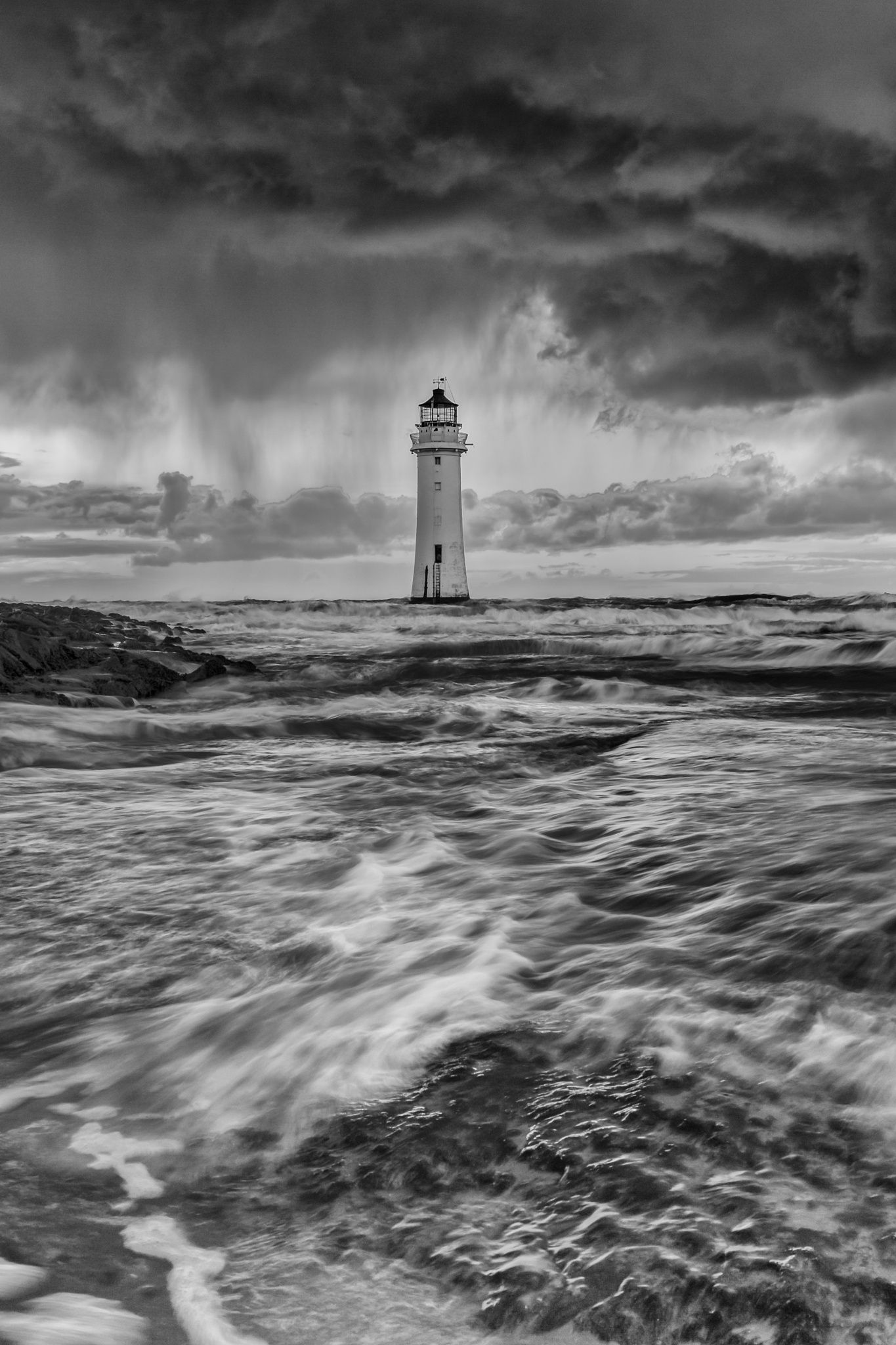 Tempestuous - Storm clouds rolling in from the Irish Sea over New Brighton lighthouse. #irishsea Tempestuous - Storm clouds rolling in from the Irish Sea over New Brighton lighthouse. #irishsea