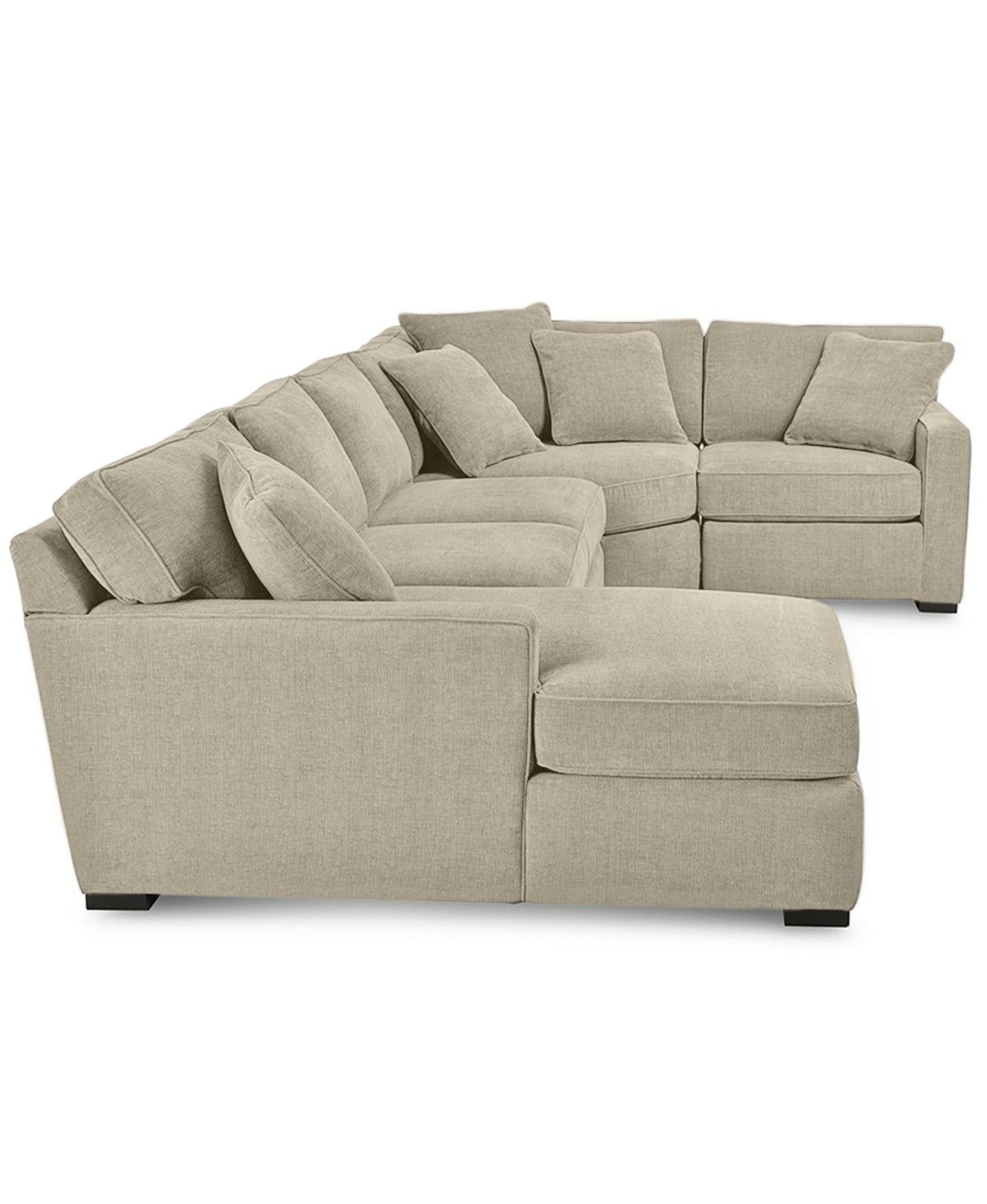 Radley 4 Piece Fabric Chaise Sectional Sofa Created For Macy S Sectional Sofa Comfy Sectional Sofa With Chaise Sectional Sofa