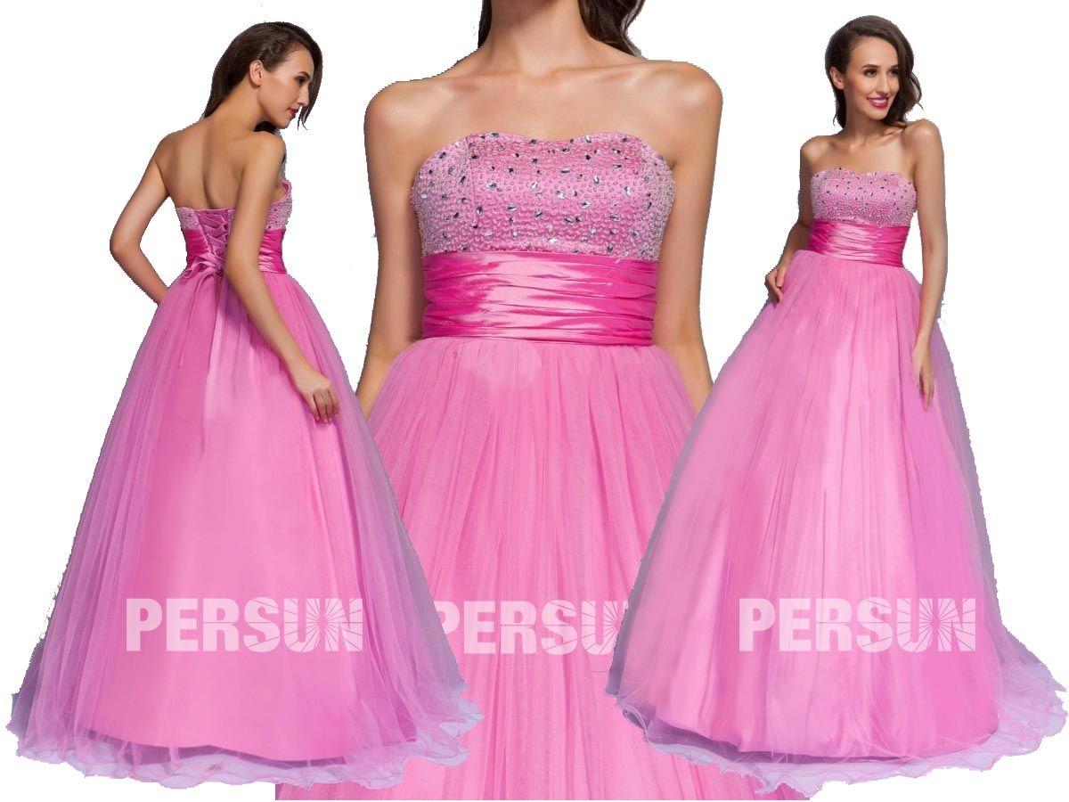 Fantástico #Vestido de #Fiesta de baile Hasta el #Suelo con #Escote ...
