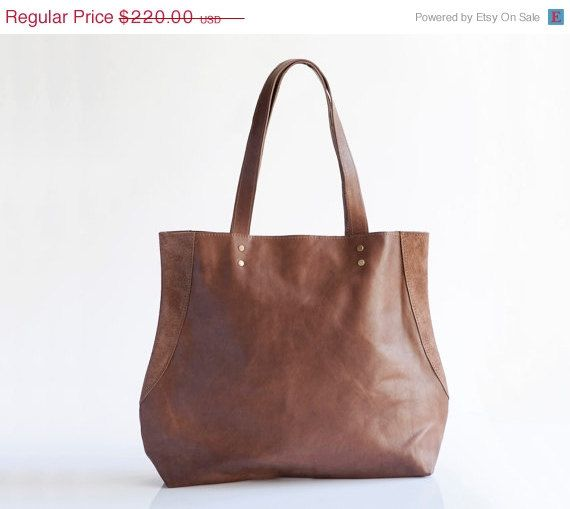 Valentines SALE 15% OFF Brown leather bag, Everyday leather tote, Chocolate brown, Shoulder bag, Gift for her, Leather bag, Handbag, Tote ba