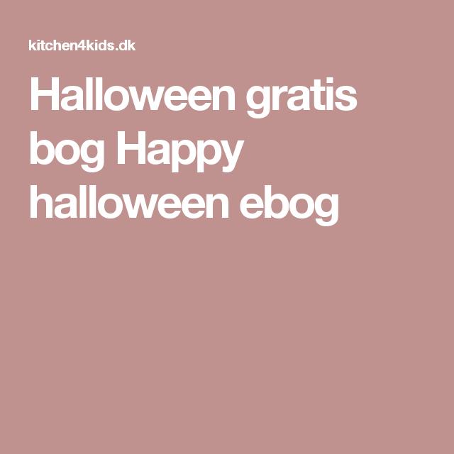 Halloween gratis bog Happy halloween ebog