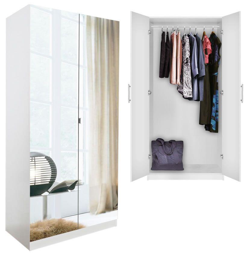 Alta Wardrobe Closet Free Standing Wardrobe With Doors