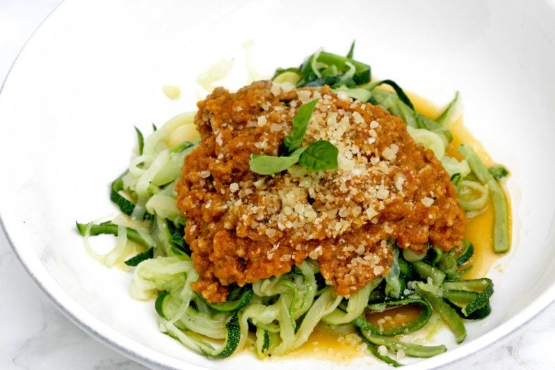 Courgette bolognese   www.keukenrevolutie.be