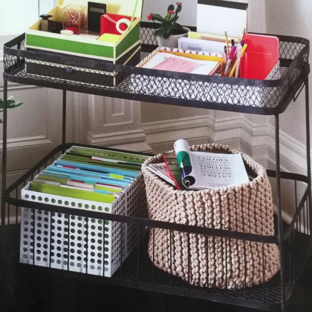 Use A Bar Cart Or Other With Wheels As Your Mobile Office So You Can Have It Wherever Want To Work In Apartment