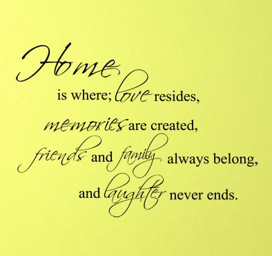 home is where love resides memories are created friends and